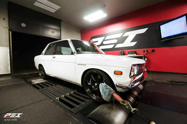 S15 SR powered Datsun 510 on the dyno at PSI 002