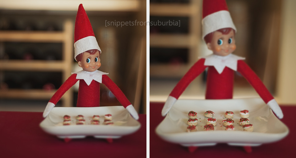 Cookies Anyone? Elf on the Shelf. Click for more ideas! #elfontheshelf