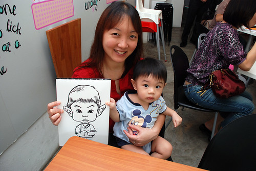 caricature live sketching for birthday party 2nd Oct 2011 - 4