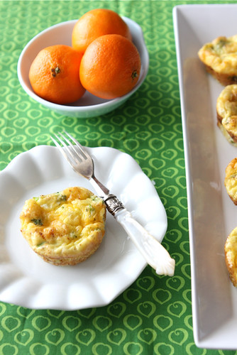 Mini Egg Frittatas with Broccoli, Cheddar Cheese & Chipotle Pepper Recipe