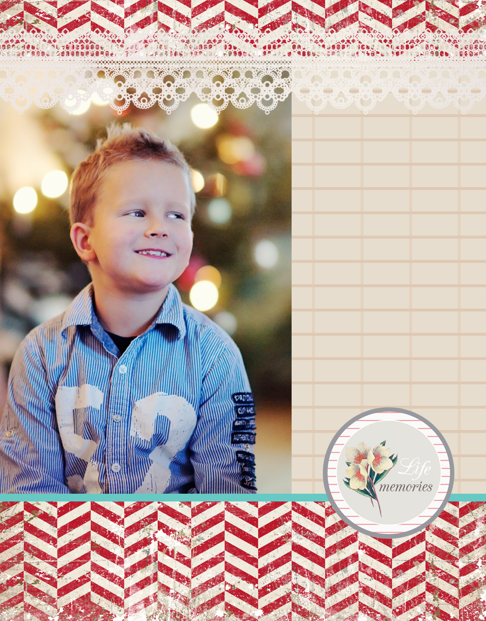 x-mas blog photo template- freebie