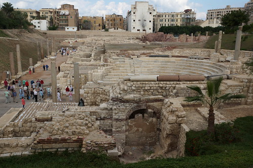 The ancient Roman Theatre in Alexandria