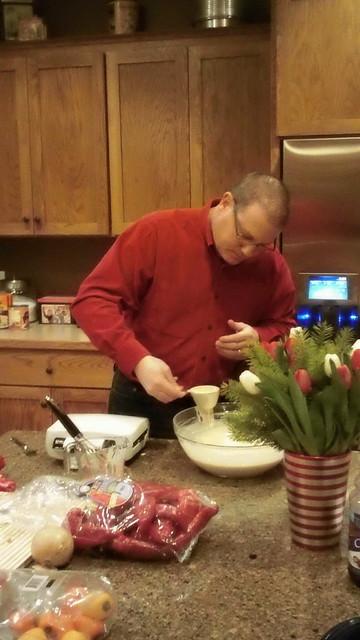 Dad Making Waffles
