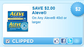 Aleve 40ct Or Larger Coupon