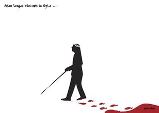 Arab League monitors in Syria