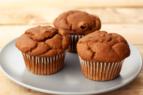 Pumpkin Gingerbread Muffins with Dried Cranberries - Gluten-free, Vegan