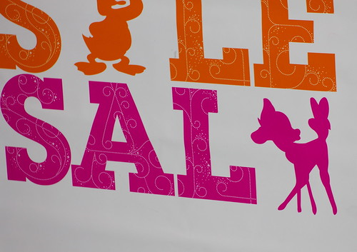 SALE, Disney Store, Michigan Avenue, Chicago, December 2011