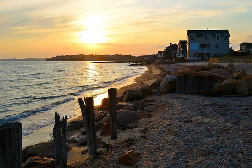 sunset sea usa sun beach america nikon tramonto mare capecod massachusetts cape sole cod falmouth spiaggia bagnoasciuga d3100 fabiotode
