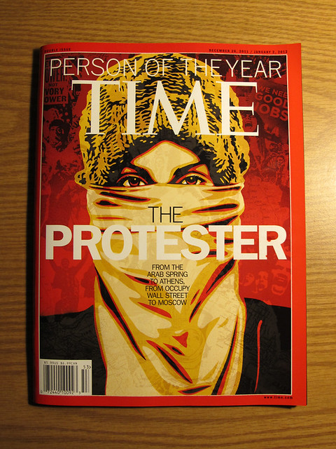 Time Magazine Cover - by Shepard Fairey