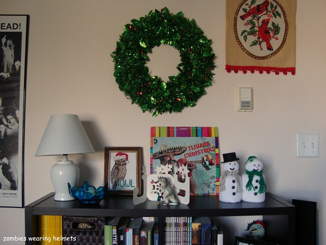Christmas bookcase 2011