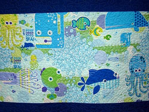 deep deep sea baby quilt