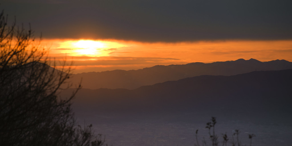 The first sunrise on Mt. Shigi 7:14