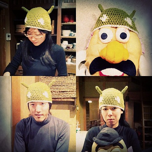@yukop 作のドロイドくん帽子