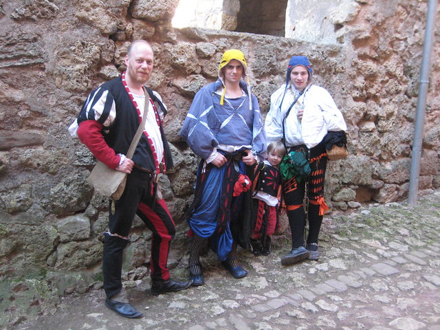 from left: Agilmar, Bruno. Alexander and Myself  (wearing the Schamkapsel)