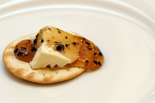Feta with honey and peppercorns