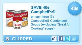 Campbells Condensed Soups (excluding Great For Cooking Soups) Coupon