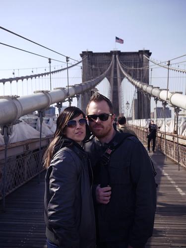 Us on the Brooklyn Bridge - April 2011