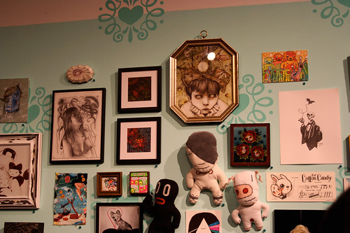 Our pieces among many others at the Cotton Candy Machine Gallery Boutique, Brooklyn - April 2011