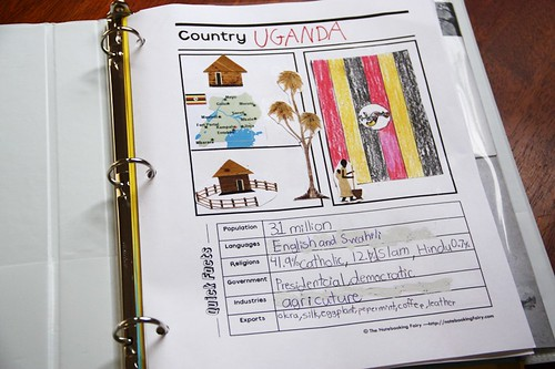 Uganda notebooking page