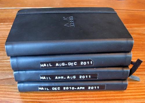 Letter logs for 2011