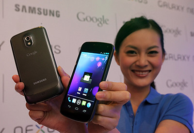 Samsung GALAXY Nexus, available in February 2012 at S$948 (incl GST, excl line).