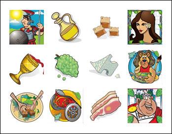 free Caesar Salad slot game symbols