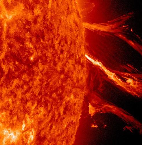 無料写真素材, 自然風景, 宇宙, 太陽, 太陽フレア, 赤色・レッド