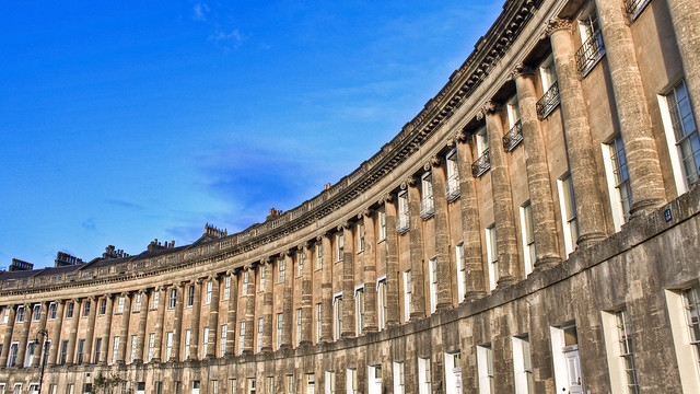 0266 - England, Bath, Royal Crescent HDR