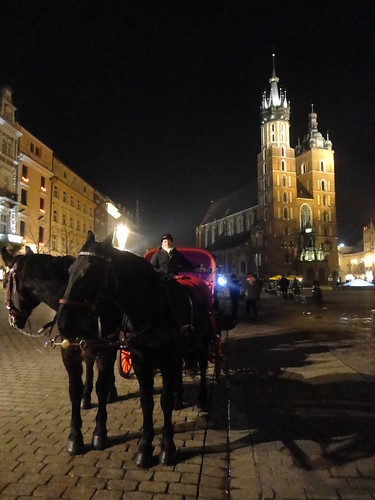 Horse carriage on the Rynek.