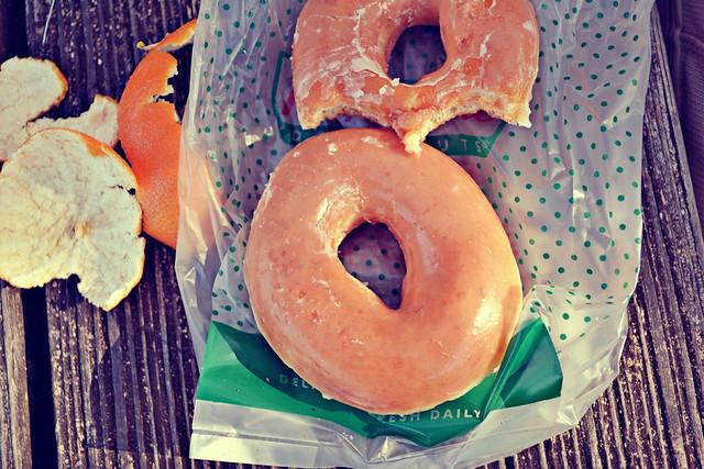 doughnuts + clementine