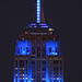 Empire State Building in Blue for the NY Giants (who beat the Falcons!)