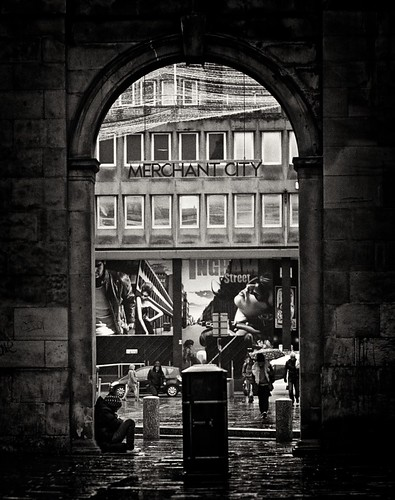 Merchant City Beggar (Explored) by stephen cosh