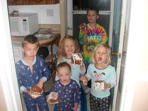 Jan 6 2012 Cal Elden haley Shanna Clark breaking gingerbread houses