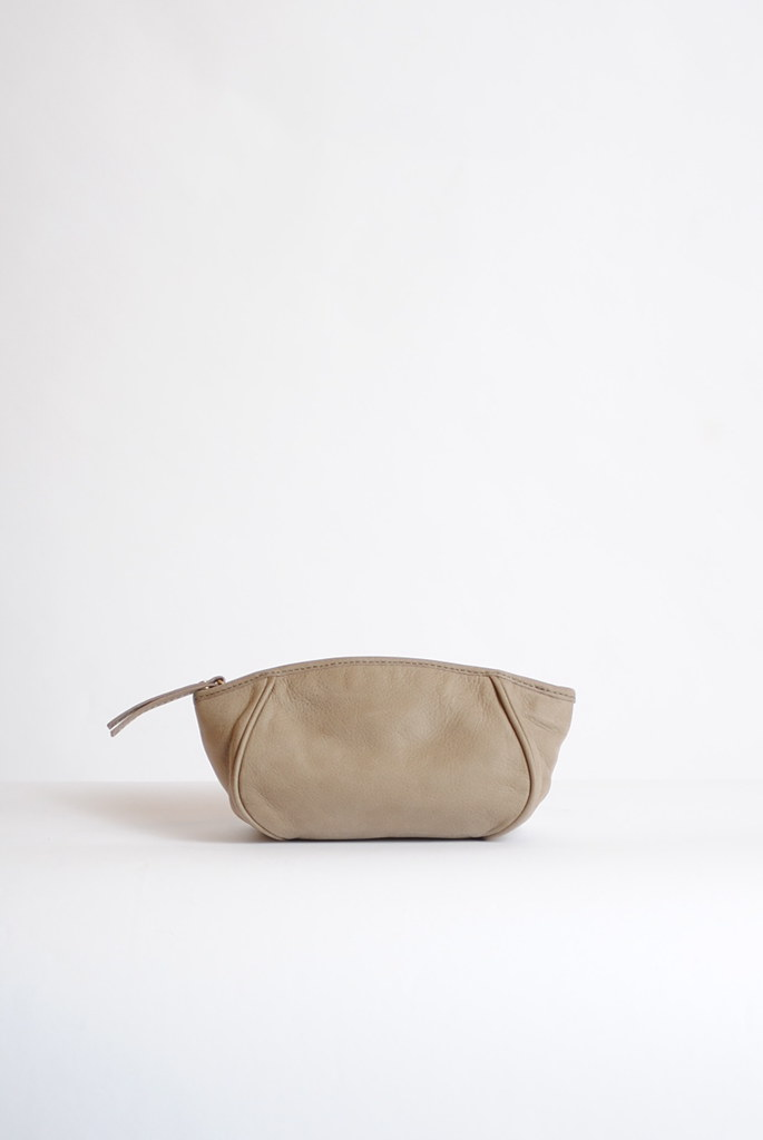 Leather Mini Lune Clutch