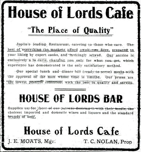 House of Lords advertisement