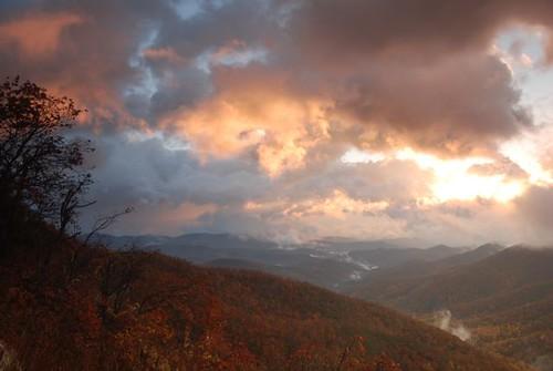 mountains fall sunrise north carolina appalachia mtpisgah