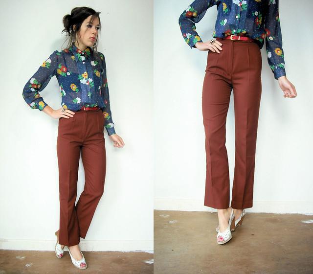 brown trouser pants