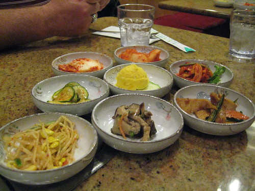 Banchan at Shin Chon
