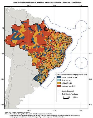 Crecimiento de población - Brasil 2010