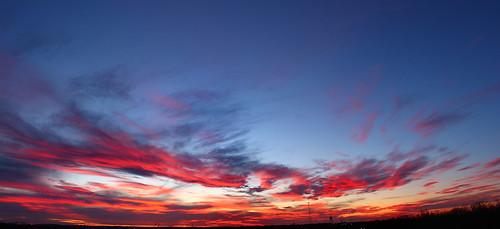 sunset sky skyline clouds canon xsi lent454