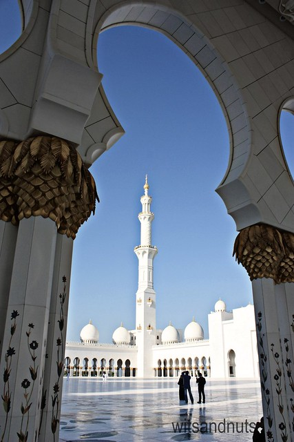 Sheikh Zayed Grand Mosque framed, Abu Dhabi, UAE