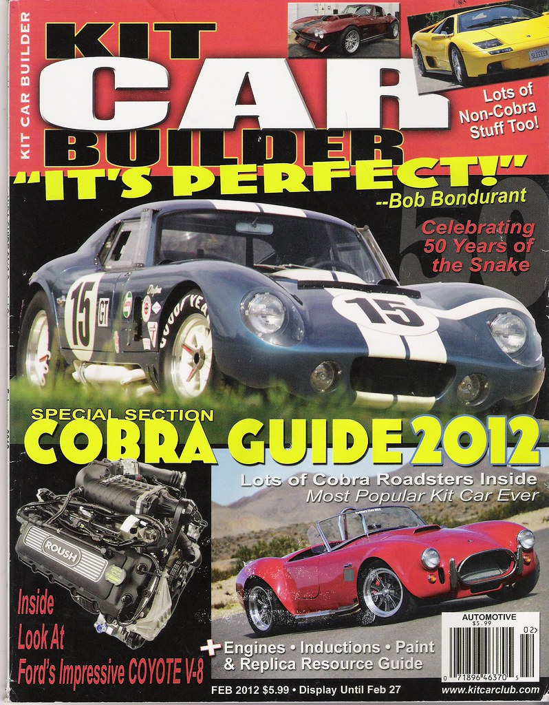 Kit Car Builder Magazine Tooting My Own Horn