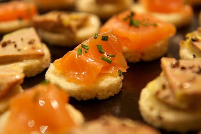 Toasts foie gras & saumon