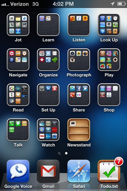 Organizing apps by verbs instead of categories | Coming ...