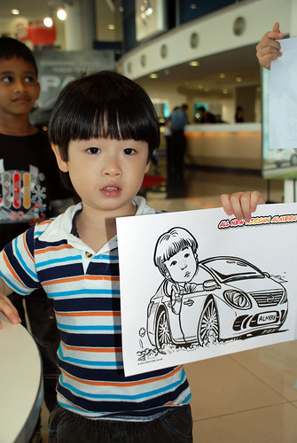 Caricature live sketching for Tan Chong Nissan Motor Almera Soft Launch - Day 4 - 17