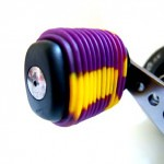 Purple Yellow Fishing Reel Grip