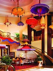 Parasols in the heart of Wynn Las Vegas