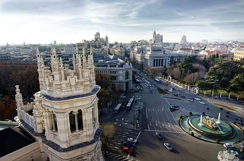 Madrid desde la terraza del Palacio de Cibeles.