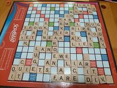 19/366 Final Scrabble board
