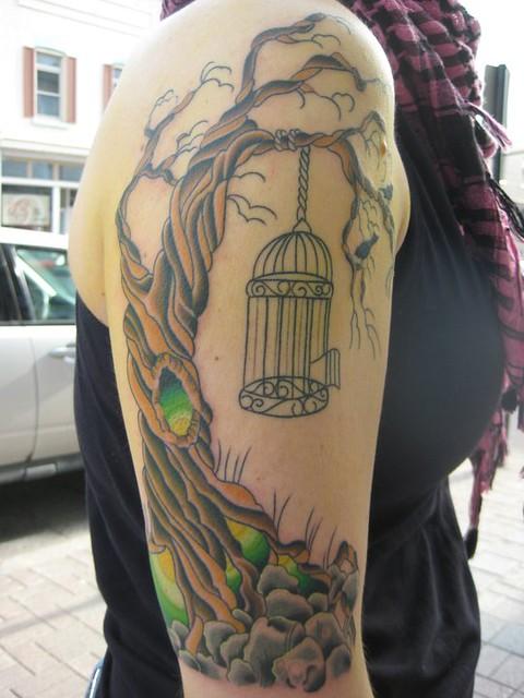 Evil Tree Tattoo